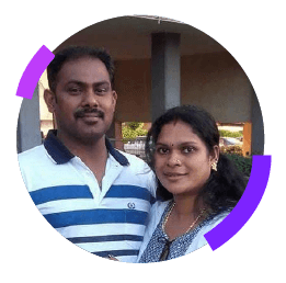 Jayesh Mon C. and Sheena C.